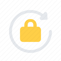 lock, padlock, processing, repeat, safe, secure icon