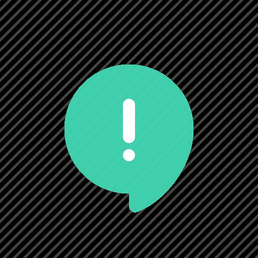 alert, bubble, chat, message, round, speech icon