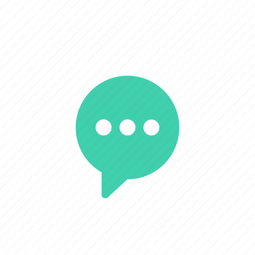 bubble, chat, message, processing, round, speech icon