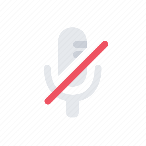 mic, microphone, mute, voice icon