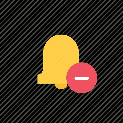 alarm, bell, delete, minus, notification, reminder icon