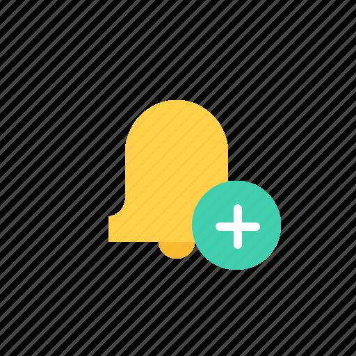 add, alarm, notification, plus, reminder icon