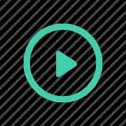 arrow, control, play, player icon