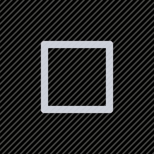 rectangle, shape icon