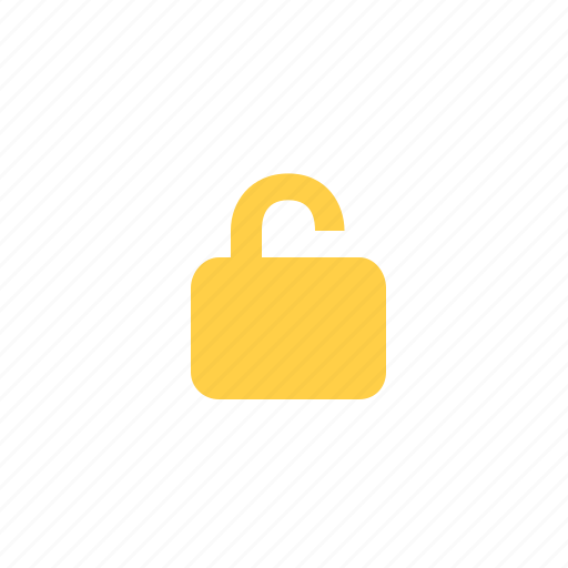 padlock, security, theft, unlock, unlocked, unsafe icon