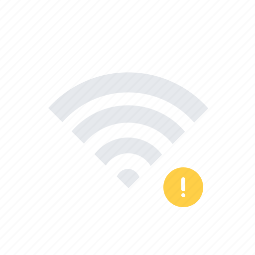 Alert, connection, network, no signal, warning, wi-fi icon - Download on Iconfinder