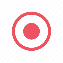 aim, point, target icon
