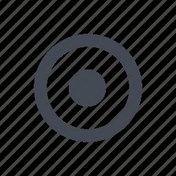 aim, point, target icon