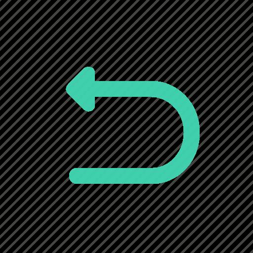 arrow, direction, pointer, turn icon