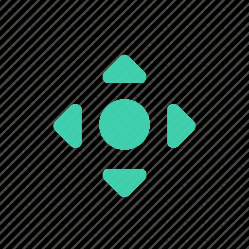 arrow, center, cross, direction icon