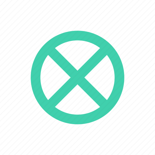 circle, cross icon