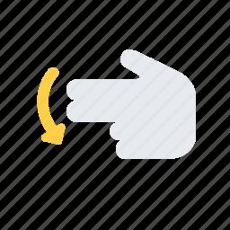 finger, gesture, hand, interaction, move, swipe icon