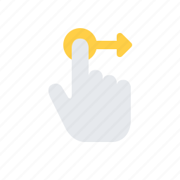 finger, gesture, hand, interaction, move, swipe, tap icon