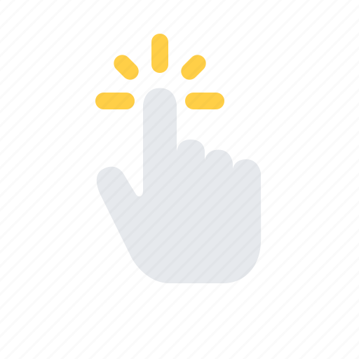 finger, gesture, hand, interaction, tap icon