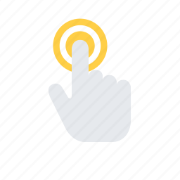 finger, gesture, hand, hold, interaction, tap icon