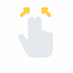 finger, gesture, hand, interaction, move, swipe icon