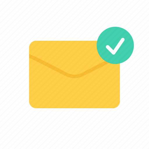 check, envelope, letter, mail icon