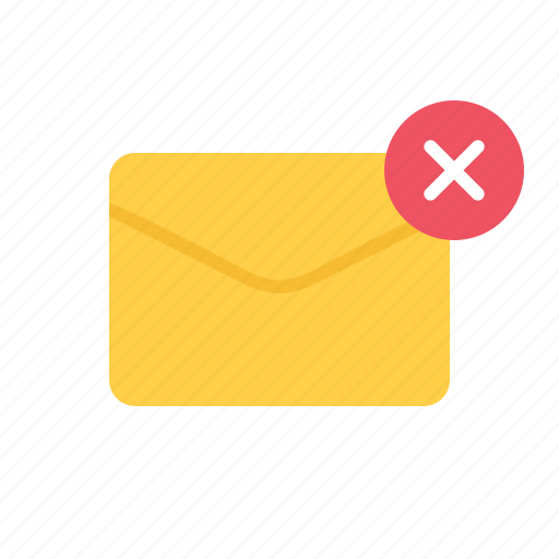 delete, envelope, letter, mail icon