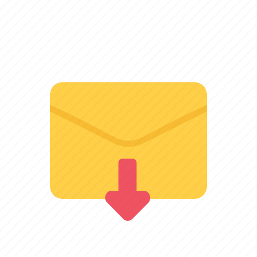 download, envelope, letter, mail icon