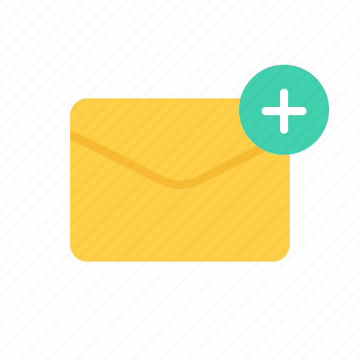 Envelope, letter, mail, plus icon - Download on Iconfinder