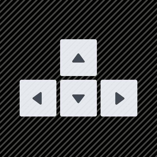 arrows, board, key icon