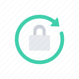 arrow, lock, refresh, round icon