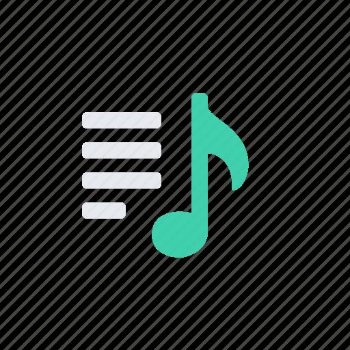 list, melody, menu, play, play list icon