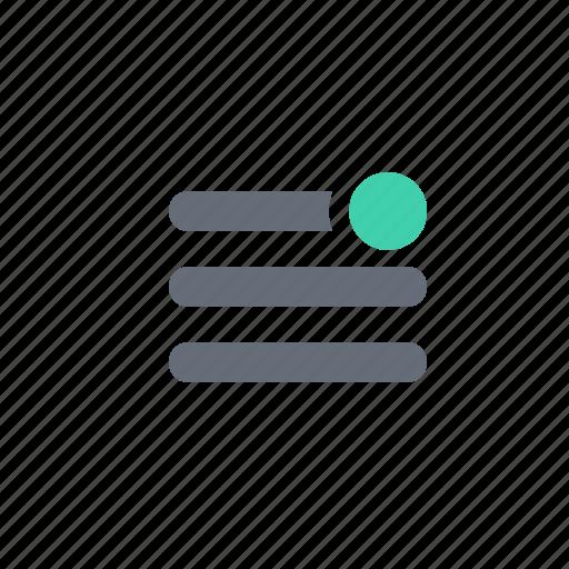 menu, notification icon