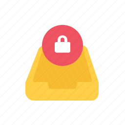 locked, message icon