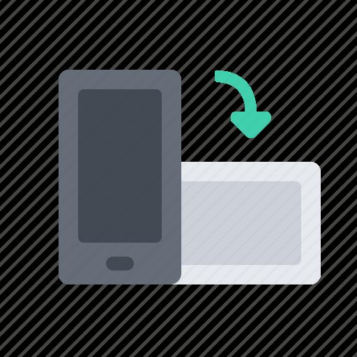 angle, phone, turn icon