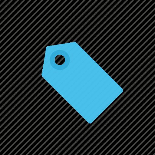 blue, label, tag icon
