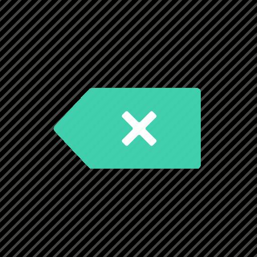 delete, label, tag icon