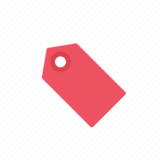 label, red, tag icon