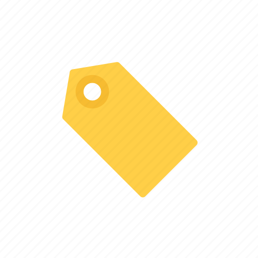label, tag, yellow icon