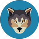 fox, fox face, wolf, wolf face icon