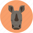 cow, rhinoceros, rhinoceros rhino, unicorn icon