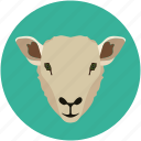 herbivore, lamb, mammal, shape, sheep icon