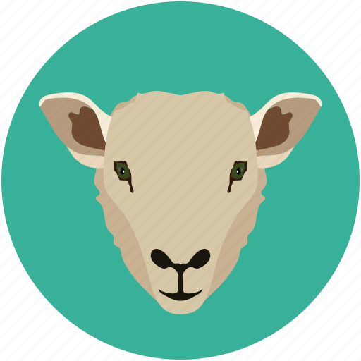 herbivore, lamb, mammal, shape, sheep icon