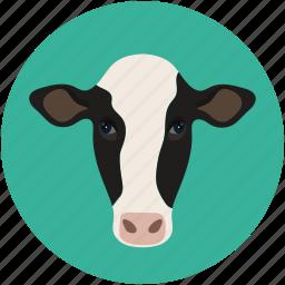 animal face, buffalo, cow, farm pet icon