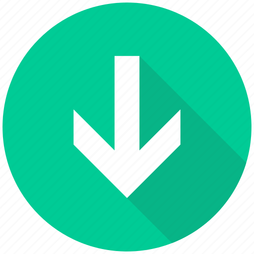 arrow, arrows, down, download icon