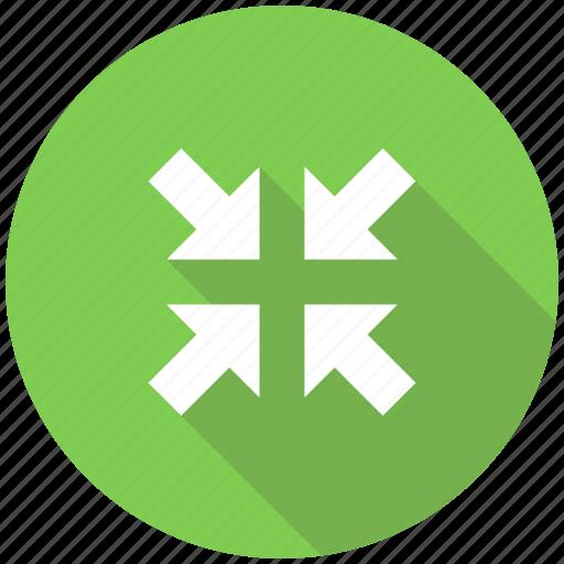 arrow, arrows, expand, zoom in, zoom in arrows icon