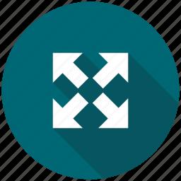 arrow, arrows, expand, spread, zoom out arrows icon
