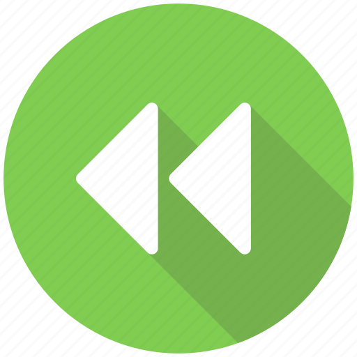 arrow, arrows, back, left, play, video icon