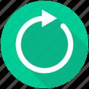 arrow, reload, renew, repeat, refresh