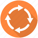 arrow, arrows, recycle, refresh, repeat icon
