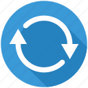 arrow, arrows, recycle, refresh, reload, renew, repeat icon