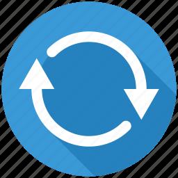 arrow, arrows, recycle, refresh, reload, renew, repeat icon