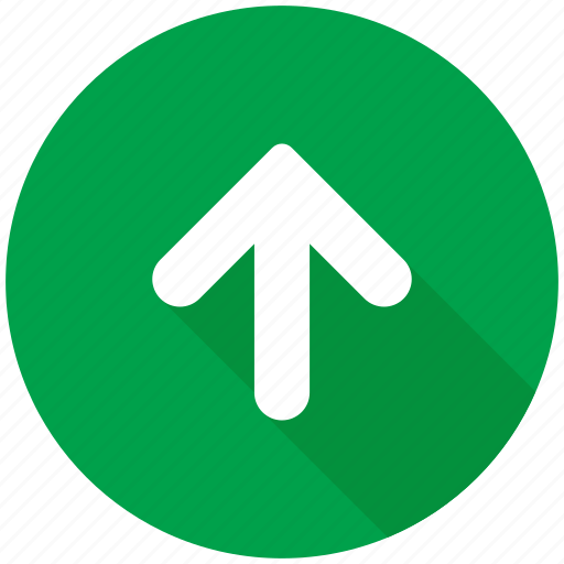 arrow, back, direction, navigation, up, upload icon