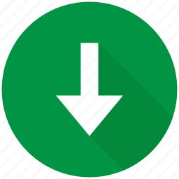 arrow, direction, down, download, navigation icon
