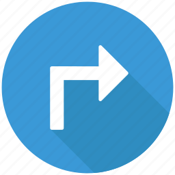 arrow, direction, navigation, right, turn right icon